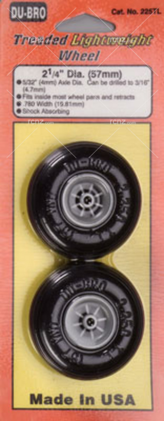 Dubro - 2-1/4 Threaded Light Wheels  image