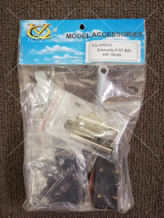 VQ Model - Retracts Electric for P-51 B & D Dagored with