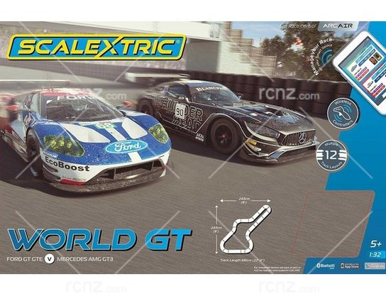 Scalextric - 1/32 ARC Air World GT (Ford GT GTE v Mercedes AMG GT3) image
