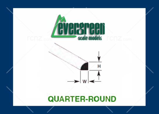 Evergreen - Styrene Quarter Round 1.5mm (4) image