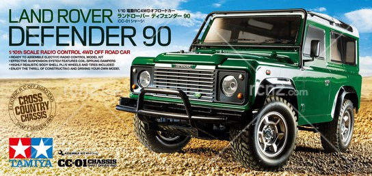 Tamiya - 1/10 Land Rover Defender 90 CC-01 Kit image