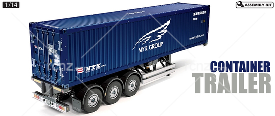 Tamiya - 1/14 Container Trailer NYK 40ft 3 Axle Kit image