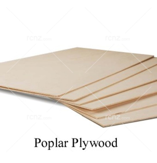 "Midwest - Poplar Plywood 1/4"" (6mm) 12x6"" (1pc) image"