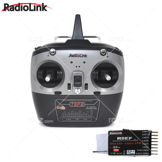 RadioLink - T8FB 8ch Programmable 2.4G FHSS Radio Set with S-Bus image