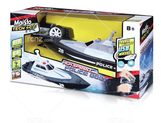Maisto - Police Launch 2.4G RC Boat RTR image